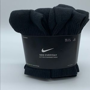 NIKE EVERYDAY COTTON CUSHIONED CREW SOCKS